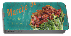 French Market Sign 3 Portable Battery Charger by Debbie DeWitt
