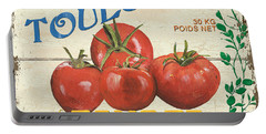 French Veggie Sign 3 Portable Battery Charger by Debbie DeWitt