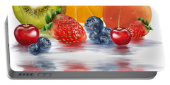 Fresh Fruits Portable Battery Charger by Veronica Minozzi