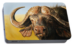 African Buffalo Portable Battery Charger by Mario Pichler