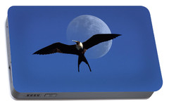 Frigatebird Moon Portable Battery Charger by Jerry McElroy