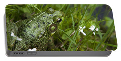 Frog On Water's Edge Portable Battery Charger by Christina Rollo