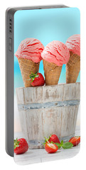 Fruit Ice Cream Portable Battery Charger by Amanda Elwell