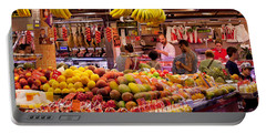 Fruits At Market Stalls, La Boqueria Portable Battery Charger by Panoramic Images