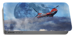 Full Moon Rescue Portable Battery Charger by Betsy Knapp