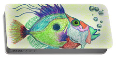 Funky Fish Art - By Sharon Cummings Portable Battery Charger by Sharon Cummings
