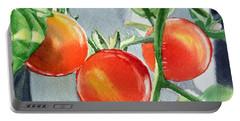 Garden Cherry Tomatoes  Portable Battery Charger by Irina Sztukowski