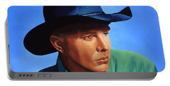 Garth Brooks Portable Battery Charger by Paul Meijering