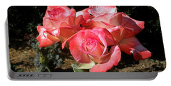 Gemini Tea Rose Portable Battery Charger by Kaye Menner