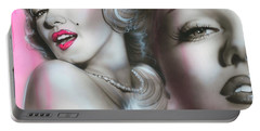 Marilyn Monroe - ' Gentlemen Prefer Blondes ' Portable Battery Charger by Christian Chapman Art