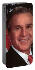 George W Bush Portable Battery Charger by Official Gov Files