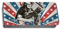 George Washington - Boombox Portable Battery Charger by Pixel Chimp