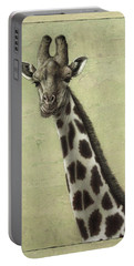 Giraffe Portable Battery Charger by James W Johnson