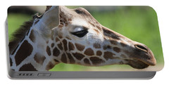 Giraffe Portrait Portable Battery Charger by Dan Sproul