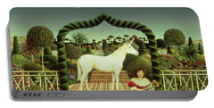 Girl With A Unicorn Portable Battery Charger by Anthony Southcombe