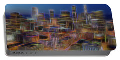 Glowing City Portable Battery Charger by Kelley King