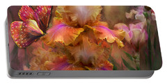 Goddess Of Sunrise Portable Battery Charger by Carol Cavalaris