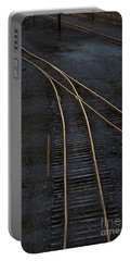 Golden Tracks Portable Battery Charger by Margie Hurwich