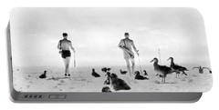 Golf With Gooney Birds Portable Battery Charger by Underwood Archives