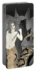 Male Medusa  Portable Battery Charger by Quim Abella