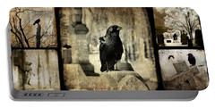 Gothic And Crows Portable Battery Charger by Gothicrow Images