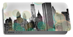 Gray City Beams Portable Battery Charger by Susan Bryant