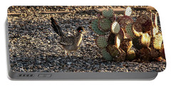 Greater Roadrunner Portable Battery Charger by Robert Bales