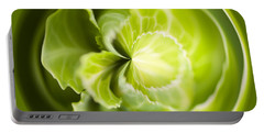 Green Cabbage Orb Portable Battery Charger by Anne Gilbert