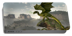 Green Dragon Portable Battery Charger by Daniel Eskridge