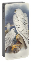 Greenland Falcon Portable Battery Charger by John Gould