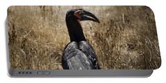Ground Hornbill-africa Portable Battery Charger by Douglas Barnard