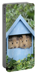 Guinea Pig In House Gp104 Portable Battery Charger by Greg Cuddiford
