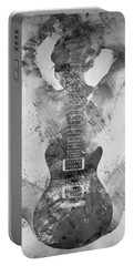Guitar Siren In Black And White Portable Battery Charger by Nikki Smith