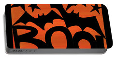 Halloween Silhouette IIi Portable Battery Charger by Anne Tavoletti