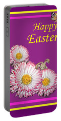 Happy Easter Hiding Bunny Portable Battery Charger by Irina Sztukowski