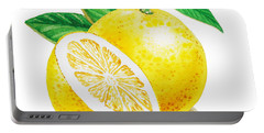 Happy Grapefruit- Irina Sztukowski Portable Battery Charger by Irina Sztukowski