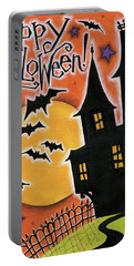 Happy Halloween Portable Battery Charger by Anne Tavoletti