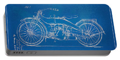 Harley-davidson Motorcycle 1924 Patent Artwork Portable Battery Charger by Nikki Marie Smith