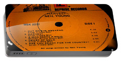 Harvest - Neil Young Side 1 Portable Battery Charger by Marcello Cicchini
