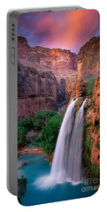 Havasu Falls Portable Battery Charger by Inge Johnsson