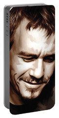 Heath Ledger Artwork Portable Battery Charger by Sheraz A