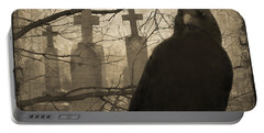 Her Graveyard Portable Battery Charger by Gothicrow Images