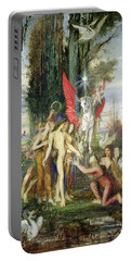 Hesiod And The Muses Portable Battery Charger by Gustave Moreau
