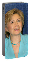 Hillary Clinton Portable Battery Charger by Nina Prommer