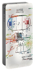 Hockey Art - Game Board - Sharon Cummings Portable Battery Charger by Sharon Cummings