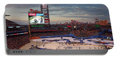 Hockey At The Ballpark Portable Battery Charger by David Rucker