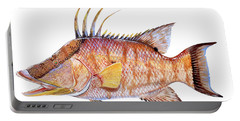 Hog Fish Portable Battery Charger by Carey Chen
