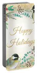 Holiday Wishes II Portable Battery Charger by Elyse Deneige