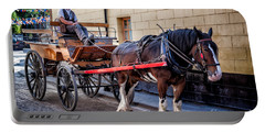 Horse And Cart Portable Battery Charger by Adrian Evans