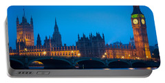 Houses Of Parliament Portable Battery Charger by Inge Johnsson